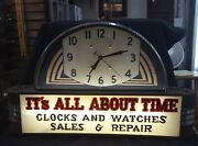 Vintage Itand039s All About Time Clock And Watch Sales Clock