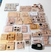 Huge Lot Vintage And New Stampin Up / Vintage Animal Stamps Rare Nice Some New.