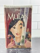 Disney's Masterpiece Collection 1999 Mulan Vhs Factory Sealed 0-7888-1104-5