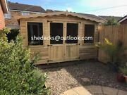 Contemporary Summer House Shed Log Cabin Tanalised Heavy Duty Tandg Garden Office