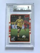 01/49 2016 Donruss Canvas Christian Pulisic Rookie Rc Bgs 9 With 10 And 9.5 Sub