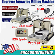 3 Axis Cnc 6040 Router Engraver Pcb Wood 3d Engraving Milling Machine 1.5kw Ce