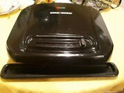 George Foreman Grill Grp1001bp 6-serving Removable Plate, Black With Drip Tray
