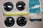 Nos Gm 1962 1963 Chevy Corvair Hubcap Wheel Cover Insert Emblem Set Of 4 3814968