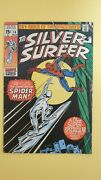 Silver Surfer 14 Spiderman Appears Unrestored Complete Nice Copy