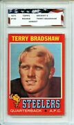 1971 Topps 156 Terry Bradshaw Rookie Card Agc 8 Nm-mint Pittsburgh Steelers
