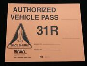 Nasa 31r Official Vehicle Pass / Kennedy Space Center Permit No. 00014