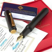 Ap Limited Editions - Ishiji Black And Gold Fountain Pen