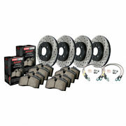 Stoptech For Audi A4 Quattro 11-16 Axle Pack Front And Rear Rotors + Pads Package
