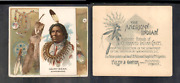 1888 N36 Allen And Ginter American Indian Chiefs Hairy Bear  3564