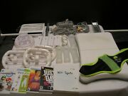 Nintendo Wii, Console, Authentic Controllers, Sensor Bar, Attachments And Games