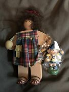 Ladie And Friends Lizzie High Dolls Little Ones June Fete 1994 + Lissi Wood Toy