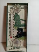 Aspects Original Window Mount Outdoor Thermometer Black Lab Dog
