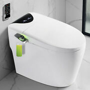 Elongated One Piece Smart Toilet With Self-clean Heated Seat 300mm Hole Distance