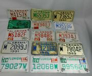 Lot Of 15 Vintage Motorcycle License Plate Tags Alabama Florida 70s 80s 90s