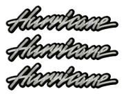 3 Hurricane Classic Vintage Stickers Remastered - 10 Long Each