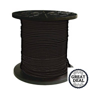8 Black Stranded Cu Simpull Thhn Wire 1000 Ft Building Electrical Wires New