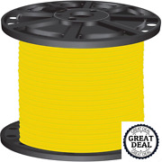 8 Yellow Stranded Cu Simpull Thhn 2500 Ft Building Electrical Wires New