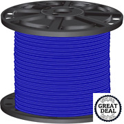 8 Blue Stranded Cu Simpull Thhn 2500 Ft Building Electrical Wires
