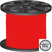 8 Red Stranded Cu Simpull Thhn Wire 2500 Ft Building Electrical Wires