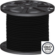 8 Black Stranded Cu Simpull Thhn Wire 2500 Ft Building Electrical Wires