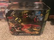 Air Hogs Battle Tracker Helicopter And Robot R/c Set Disc Shooting Heli