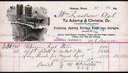 1898 Helena Mt - Adams And Christie - Plumbing Heating Iron Works Letter Head Rare