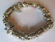 Authentic Pandora Charm Bracelet 7.5 With 21 Sterling Silver 925 Ale Charm