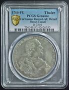 1766-fu German Hesse-cassel D-2301 Pcgs Genuine Silver Ancient Coin