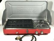 Primus Profile Dual Camp Outdoor Stove Burner Grill Red Combo Made In Sweden