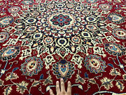 10x13 Red Vintage Oriental Wool Rug Antique Hand Knotted Handmade Carpet 9x12 Ft