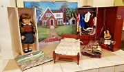American Girl Doll Molly Lot Bed Trunk Clothing Shoes Outfits Accessories