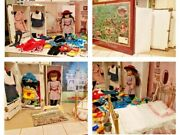 American Girl Doll Samantha Lot Bed Trunk Clothing Shoes Outfits Accessories