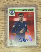 Mason Mount Chelsea 2020/21 Topps Merlin Heritage 95 Red Auto /10 Uefa Cl Soccer
