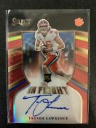 2021 Chronicles Select In Flight Trevor Lawrence 12/25 Ssp Prizm On-card Auto Rc