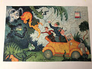 Very Rare Essolube 1930and039s Dr. Seuss Advertising Puzzle With Original Envelope
