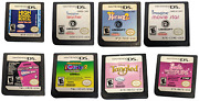 Nintendo Ds Game Lot. 8 Loose Games Only Petz, Icarly, Monster High Barbie More