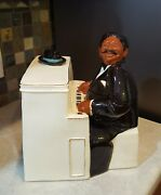 A Little Company Fats Cookie Jar Limited Ed. 156 Of 250 Black Jazz Pianist