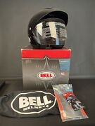 New Bell Mag 8 Motorcycle Helmet Size With Visor And Face Shield - Black Noir Xs