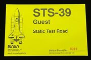 Sts-39 Guest Static Test Road Kennedy Space Center Vehicle Permit Pass No.0019