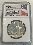 2019 W 100 Proof Platinum Eagle Ngc Pf 70 First Day Mercanti/everhart Signed