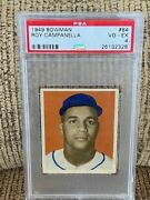 1949 Bowman Roy Campanella Psa 4 Rookie 84 Card Excellent Centering And Color Rh