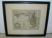Antique Colonial America Map East And West Florida Hand Colored Original 1765