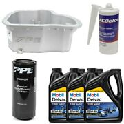 Oil Pan Kit Mobil Oil/sealant/ppe Raw Deep Pan And Filter For 01-10 6.6l Duramax