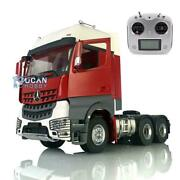 Lesu 1/14 Rc 66 Metal Chassis Radio Painted Hercules Actros Cabin Tractor Truck