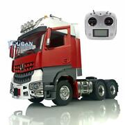 1/14 Lesu Rc Metal 66 Chassis Radio Hercules Painted Actros Cabin Tractor Truck