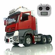 Metal 66 Lesu Tractor Truck Rc 1/14 Chassis Light Radio Hercules Painted Cabin