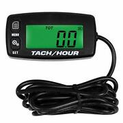Searon Small Engine Tachometer Hour Meter Inductive Tachometer For Outboard E...