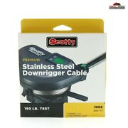 Scotty Premium Stainless Steel Downrigger Cable 400ft 150lb 1002 New