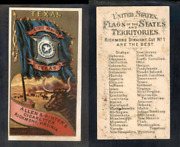 1888 N11 Allen And Ginter Flags States Territories Texas  3646